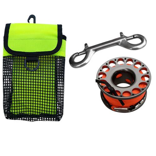 Finger Spool for Scuba Diving Swivel Clip Spool Reel /& SMB Mesh Gear Bag