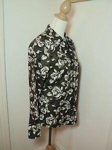 black-grey-vintage-style-print-shirt-roses-jane-lamerton-Bought-not-worn