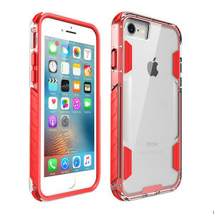 Shockproof-Hybrid-Rubber-Bumper-Clear-Hard-Back-Case-Cover-For-iPhone-7-Plus-X