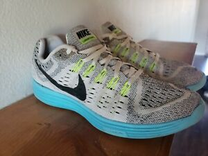promo code d8d07 8c9c1 Details about Nike Lunartempo Womens Size 10 Running Shoes  White/Black/Yellow/Blue