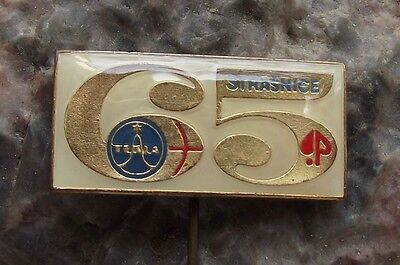 Tesla Strasnice 65th Anniversary Microphones Acoustic Electronics Pin Badge