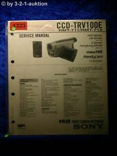 Sony Service Manual CCD TRV100E Video Camera Recorder (#1323)