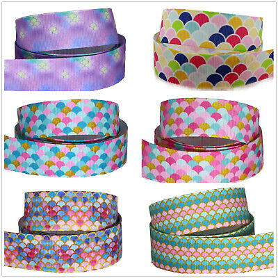 "Grosgrain Mermaid Scales Fish Ribbon 7//8/"" 22mm"