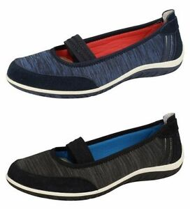 Donna-Down-To-Earth-Scarpe-Slip-On-UK-Taglie-3-8-F80209