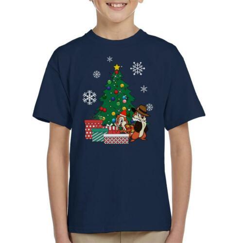 Chip N Dale autour de l/'arbre de Noël KID/'S T-Shirt