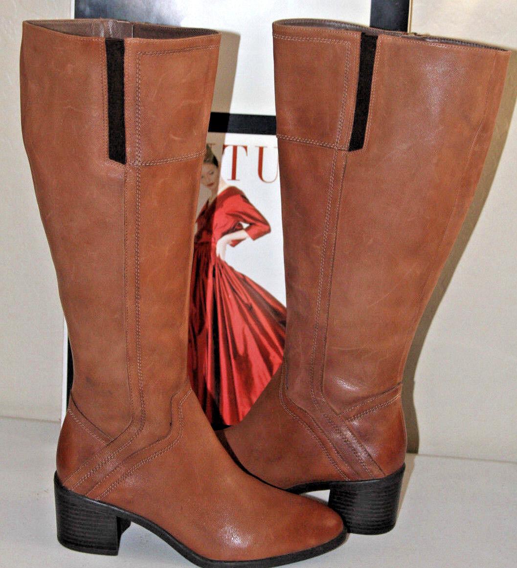 75 Franco Sarto Whisky edalina Cuero Cuero Cuero Marrón rodilla alta botas talla 6  genuina alta calidad