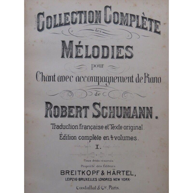 SCHUMANN Robert Mélodies Vol 1 & 2 Chant Piano XIXe partition sheet music sc