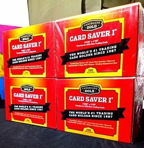 New Cardboard Gold Card Saver 1 Factory Sealed BOX 200 Ct (PSA, BGS, SGC)