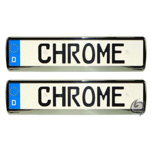2x Chrom Kennzeichenhalter Audi A8+TT+TTS+8N+8J+A5+S5+Q7+Q5+RS Tuning