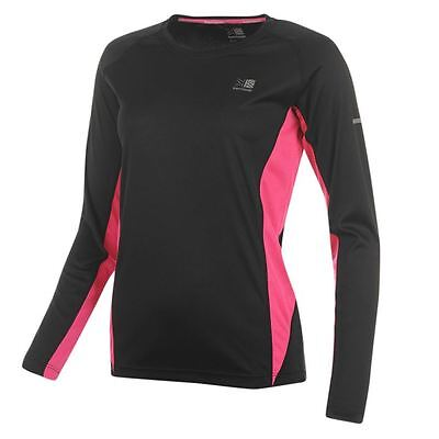 LADIES BLACK KARRIMOR LIGHTWEIGHT RUNNING JOGGING CREW NECK SHIRT T-SHIRT TOP