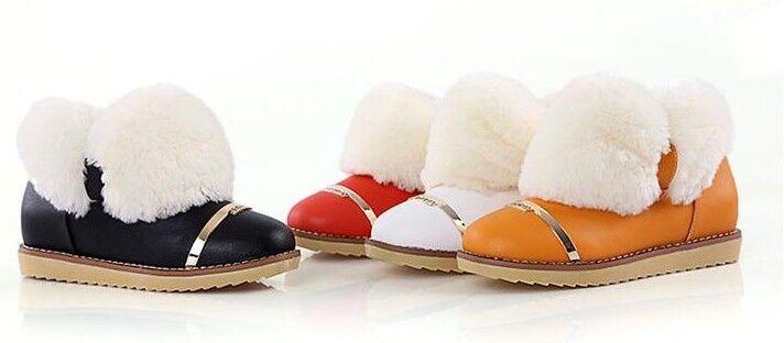 Stiefeletten Stiefel Damenschuhe Absatz 2 cm Mode Leder Kunststoff Bequeme 9037