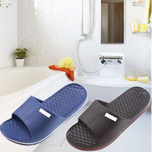 Men's Slip On Sport Slide Sandals Flip Flop Shower Shoes Slippers Gym House Pool