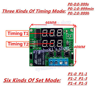 electronics diy collection on ebay!dc 12v digital led cycle timing delay time timer relay module clock controller