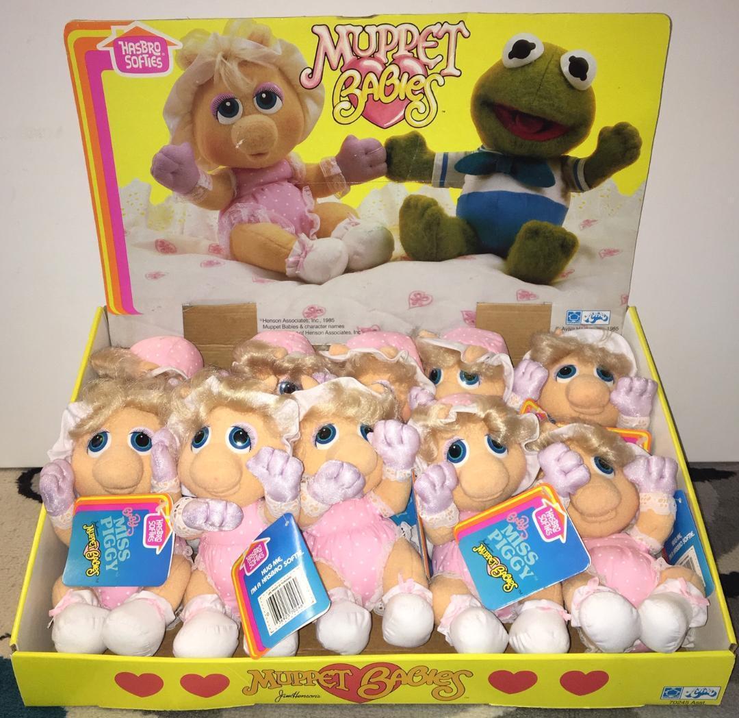 Muppet Babies Hasbro mjukies FÖRVARAS DISspela 10 oanvända Miss Piggy s W   taggar 1984