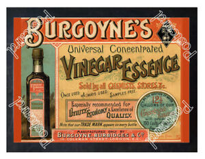 Historic-Burgoyne-039-s-Vinegar-Essence-London-c-1900-Advertising-Postcard