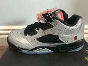 detailed look 4d11b 793ab Details about Nike Air Jordan 5 Ret Low Neymar BG GS REFLECT Silver 846316  025 UK 4 EU 36.5
