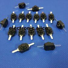 100pcs 1a 30v Dc 250v Black Latching On Off Mini Torch Push Button Switch