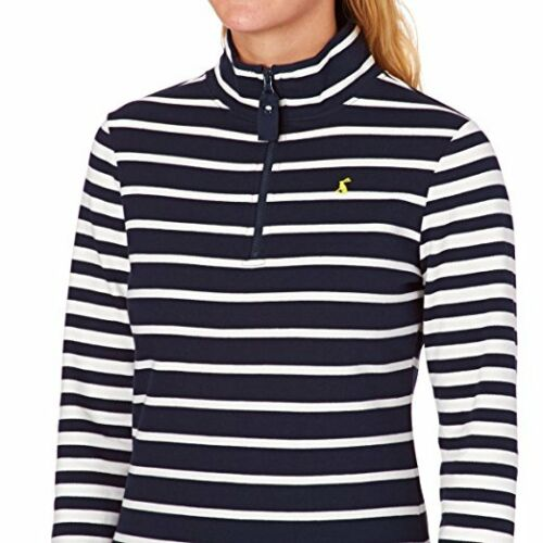 Joules Fairdale Ladies Sweatshirt V New Style  Colour French Navy Stripe UK 18