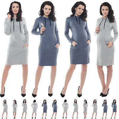 Purpless Maternity Pregnancy and Nursing Casual Dress Top with Pockets B6204