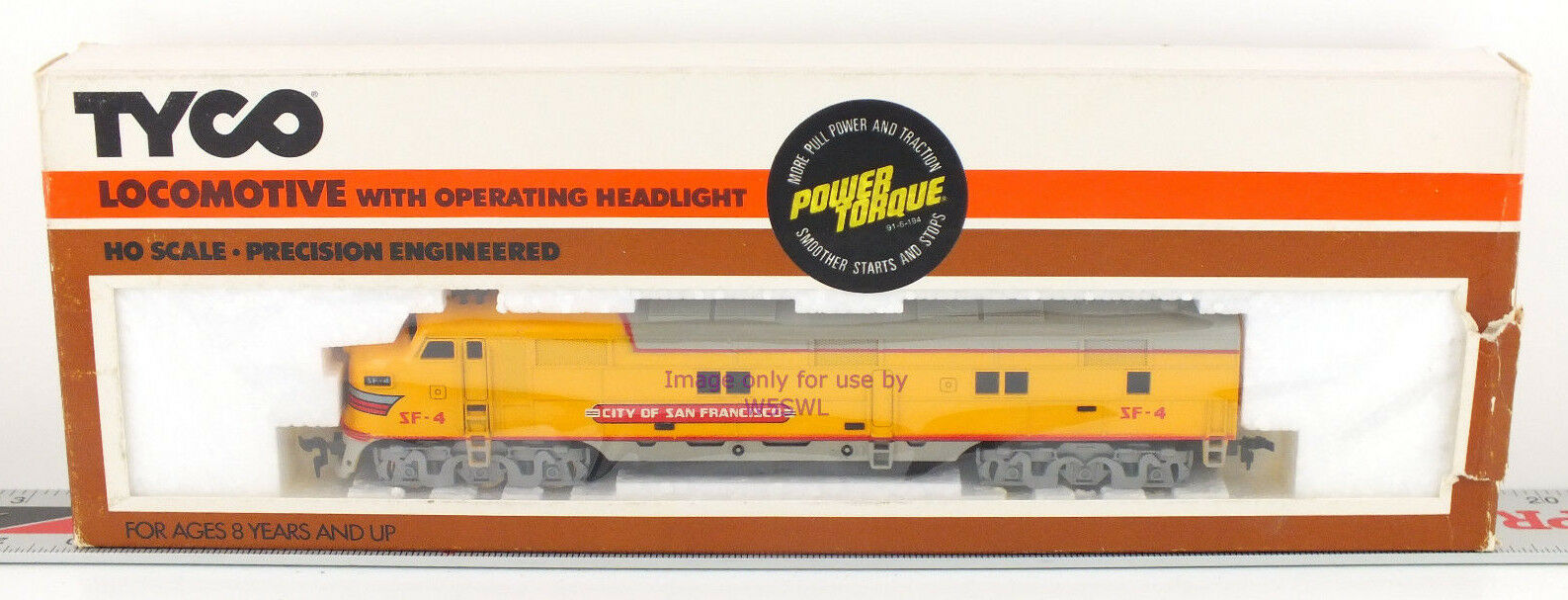 TYCO HO UP City San Franciso Locomotive 255-23 Collectible in Box Power Torque