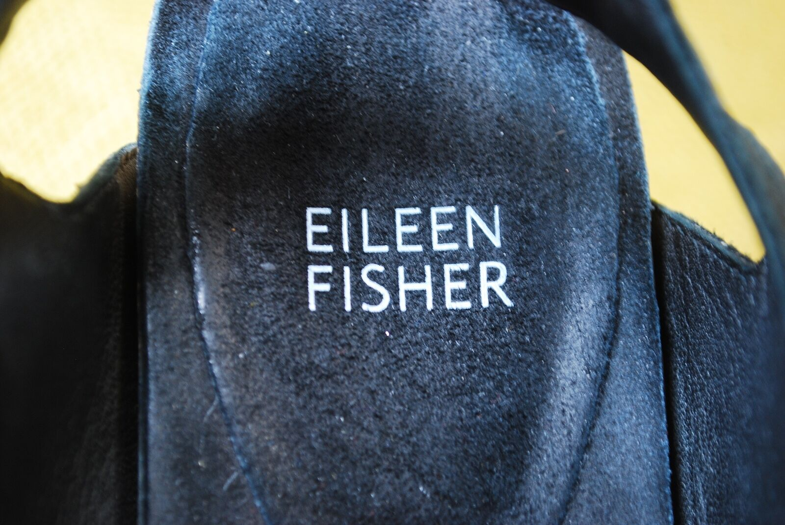 Eileen Fisher Peep Punta Abierta Botines Sandalias De Cuero Nobuck Nobuck Nobuck Negro Taco de 3.5  Talle 10 282c6e
