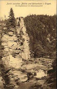 Zoeblitz-Reitzenhain-Sachsen-Erzgebirge-AK-1910-Teufelsmauer-Schwarzwassertal