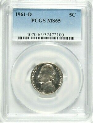 1961 Jefferson Nickel 5c ~ PCGS MS66 ~ STUNNING!
