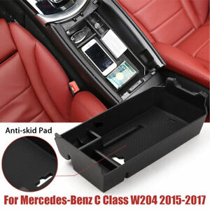 Car Tray Center Console Organizer Storage Box For Mercedes Benz C