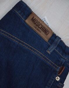 4a82deb52b MOSCHINO JEANS VINTAGE TROUSERS BOOT CUT RELAXED WIDE BLUE MID RISE ...
