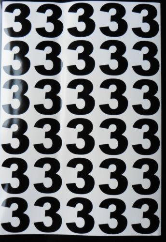 sticky vinyl Numbers stickers Decals weather proof Bk /& Wt bin door office home