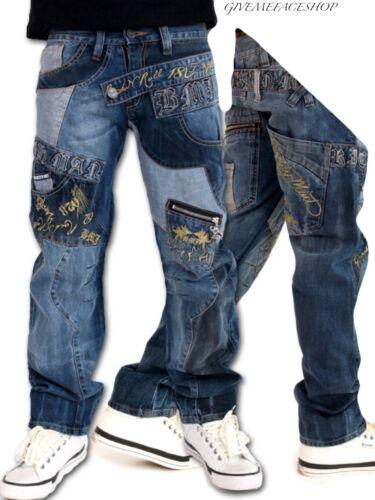 URBAN HIPHOP BAR DENIM DESIGNER PUNK PANTS ROCK N ROLL JEANS BY BROOKLYN MINT