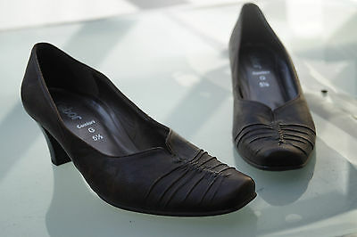 GABOR Comfort Damen Schuhe Pumps Absatz vintage braun Gr.5,5 / 39 Leder TOP #18