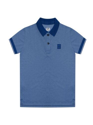 C.P Company Undersixteen Royal Blue Blue Contrast Polo Shirt