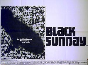 BLACK-SUNDAY-1977-Robert-Shaw-Bruce-Dern-Marthe-Keller-UK-QUAD-POSTER