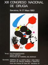 "JOAN MIRÃ"" - XIII Congreso Nacional de Cirugia Barcelona 1980 - Farboffsetplakat"