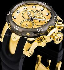 Invicta Reserve Venom Swiss Chronograph 18K Gold Plated Gunmetal Bezel Watch