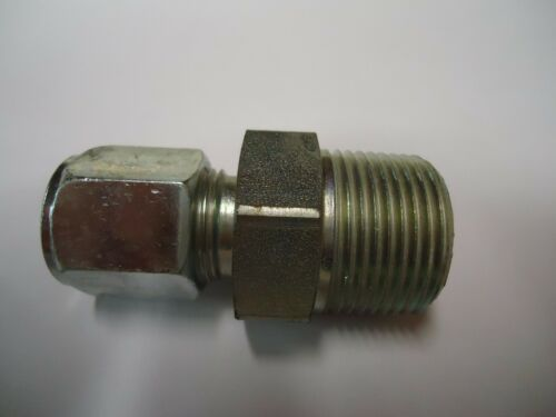 """HYDRAULIC FITTING 3//4/"""" MALE PIPE WITH 1//2/"""" FEMALE COMPRESSION /""""New/"""""""