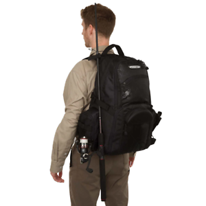 Spiderwire Backpack Tackle Bag Fishing Outdoor Rod Carry System Holder Storage