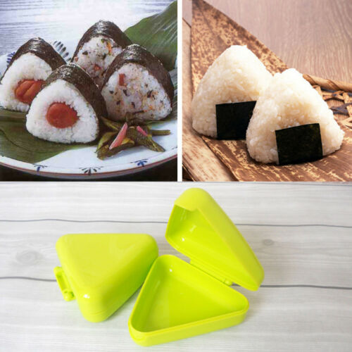 AM/_ Triangle Sushi DIY Nori Rice Ball Box Press Mold Onigiri Maker Kitchen Tool