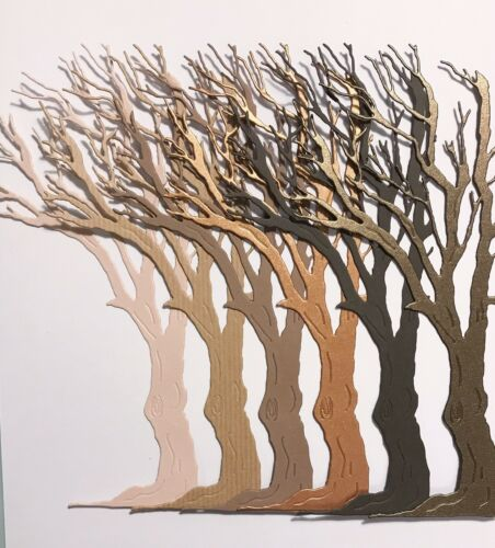 Brown Mix Large Bare Tree Die Cuts New