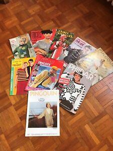 Lot 9 catalogs knit penguin-phildar-prima-mon tricot + various vintage | eBay