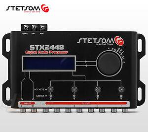 Stetsom Stx2448 Dsp Crossover Equalizer 4 Way Audio Car Audio