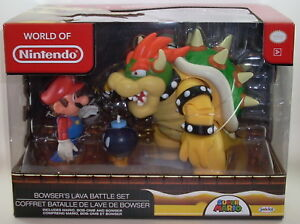 World-of-Nintendo-BOWSER-039-S-LAVA-PLAYSET-Action-Figures-SEALED-Jakks-Super-Mario