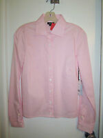 Worth Ny M 10 Blush Pink Stretch Cotton Blouse Dress Shirt Long Sleeve $248