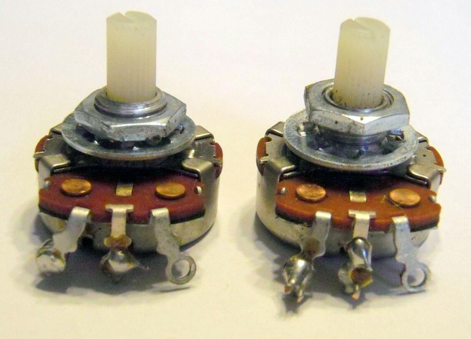 1966 CTS 2meg Solidshaft Pot Pair - 2 meg Potentiometers Valco Guitars & Basses