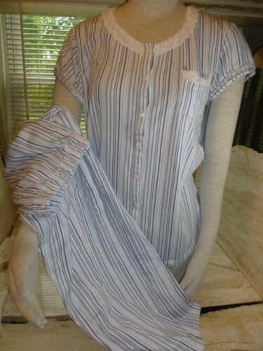 Simple Pleasures Blue Ticking Stripe Short Sleeve