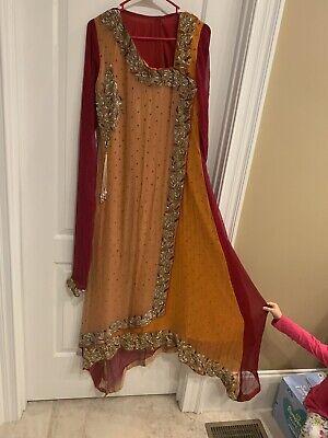 Indian Pakistani Shalwar Kameez Embroidered Women Stitched