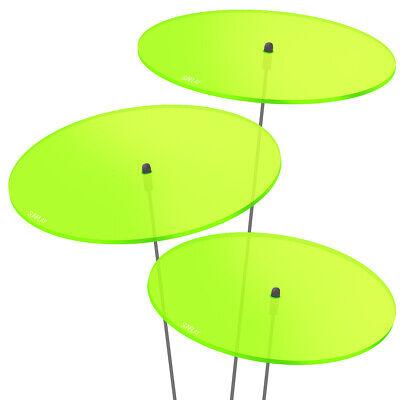 3 Pezzi Sunplay Sole Scatenala ø20cm Suncatcher Spina Da Giardino Verde Vetri- Quell Summer Thirst