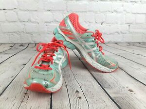 Women-Asics-Shoe-T3D9N-Sneakers-Gel-Flux-Tennis-Jogging-Running-Grey-Teal-Size-8