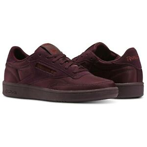 REEBOK-CLASSICS-CLUB-C-85-SOFT-TRAINERS-WOMENS-GIRLS-SNEAKERS-SHOES-MAROON-NEW